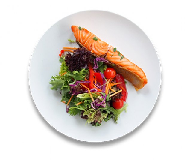 Grilled Salmon with Greens Salad